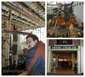 air and space collage