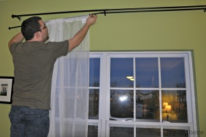 hang sheer panels