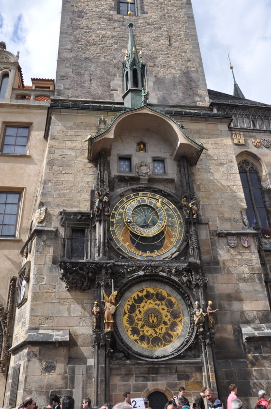 Close up of the astronomical clock...